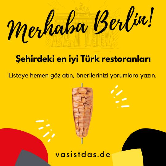 En iyi Türk Restoranlari Berlin